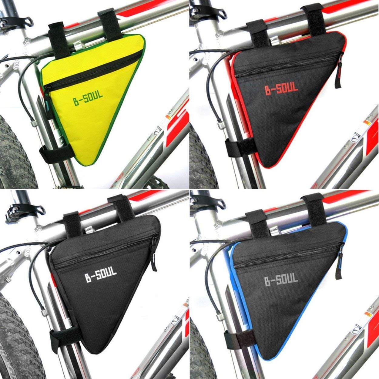 Lorenlli Fit B-Soul Impermeable Tri/ángulo Ciclismo Bolsas de Bicicleta Tubo Delantero Bolsa Marco Porta Bicicleta Sill/ín Bolsa Manillar Bicicleta Accesorios