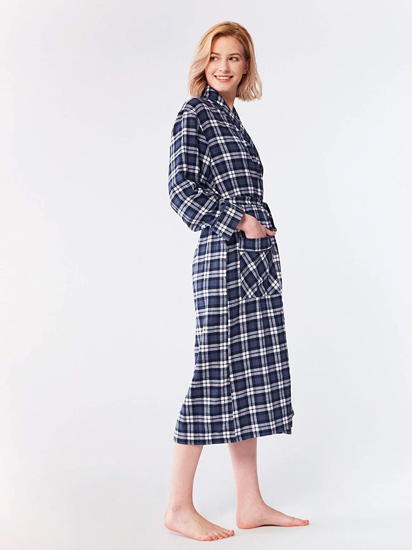 SIORO Robe de Chambre en Flanelle de Coton pour Femme Peignoirs /à Carreaux Doux v/êtements de Nuit