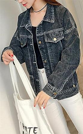 bec3b4365ca3 Johnells Fashion Comfortable Women Vintage Casual Pocket Long Sleeve Denim Jacket  Coat Grey US XS