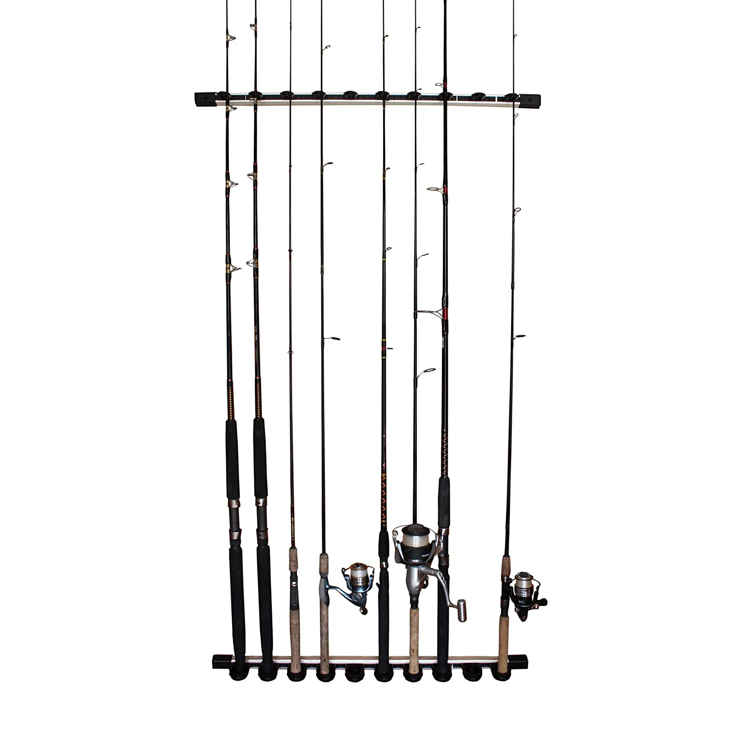 Rush Creek Creations 3 in 1 All Weather Fishing Rod Pole Storage Wall Ceiling Rack