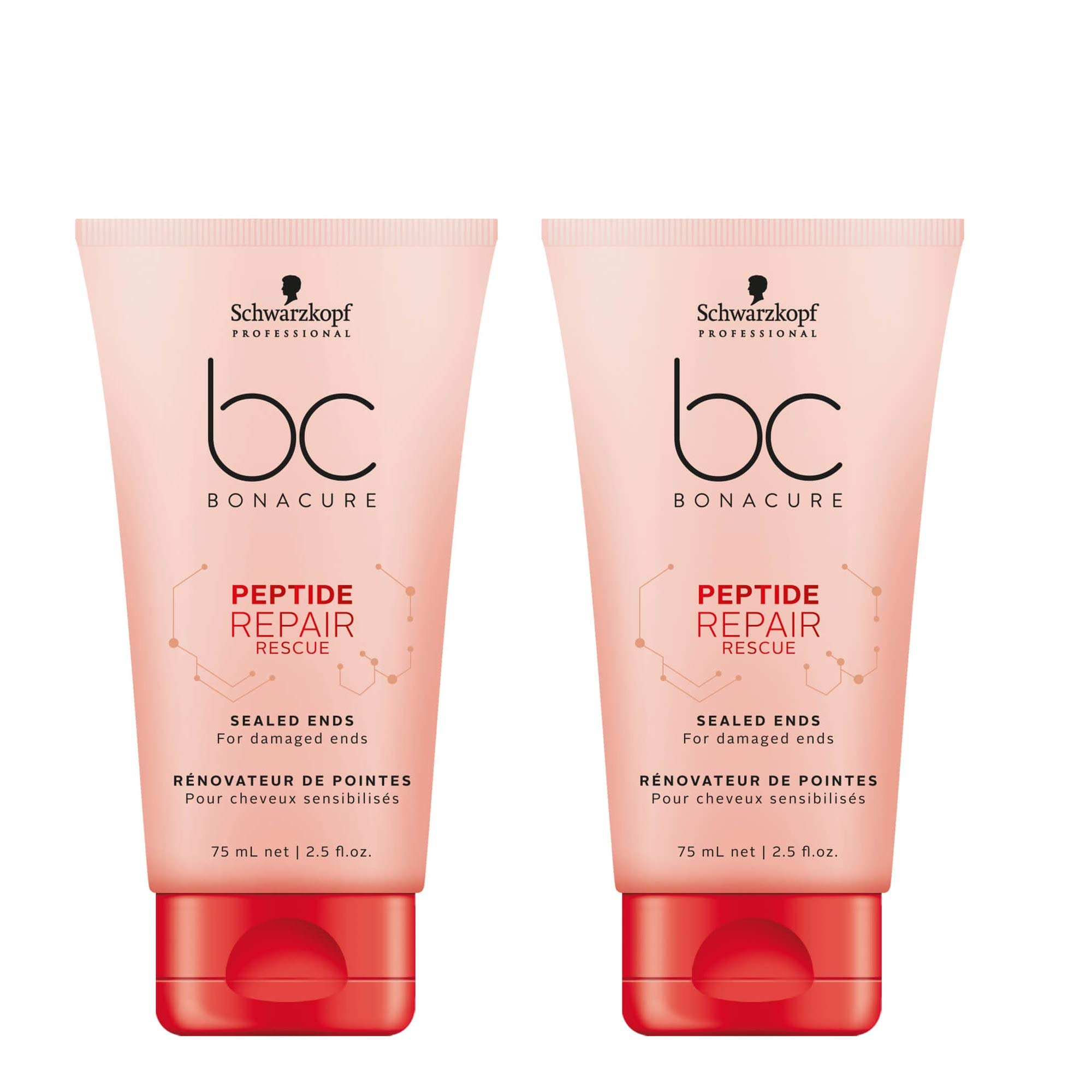 BC Bonacure REPAIR RESCUE Sealed Ends, 2.5-Ounce (2-Pack) by BC Bonacure