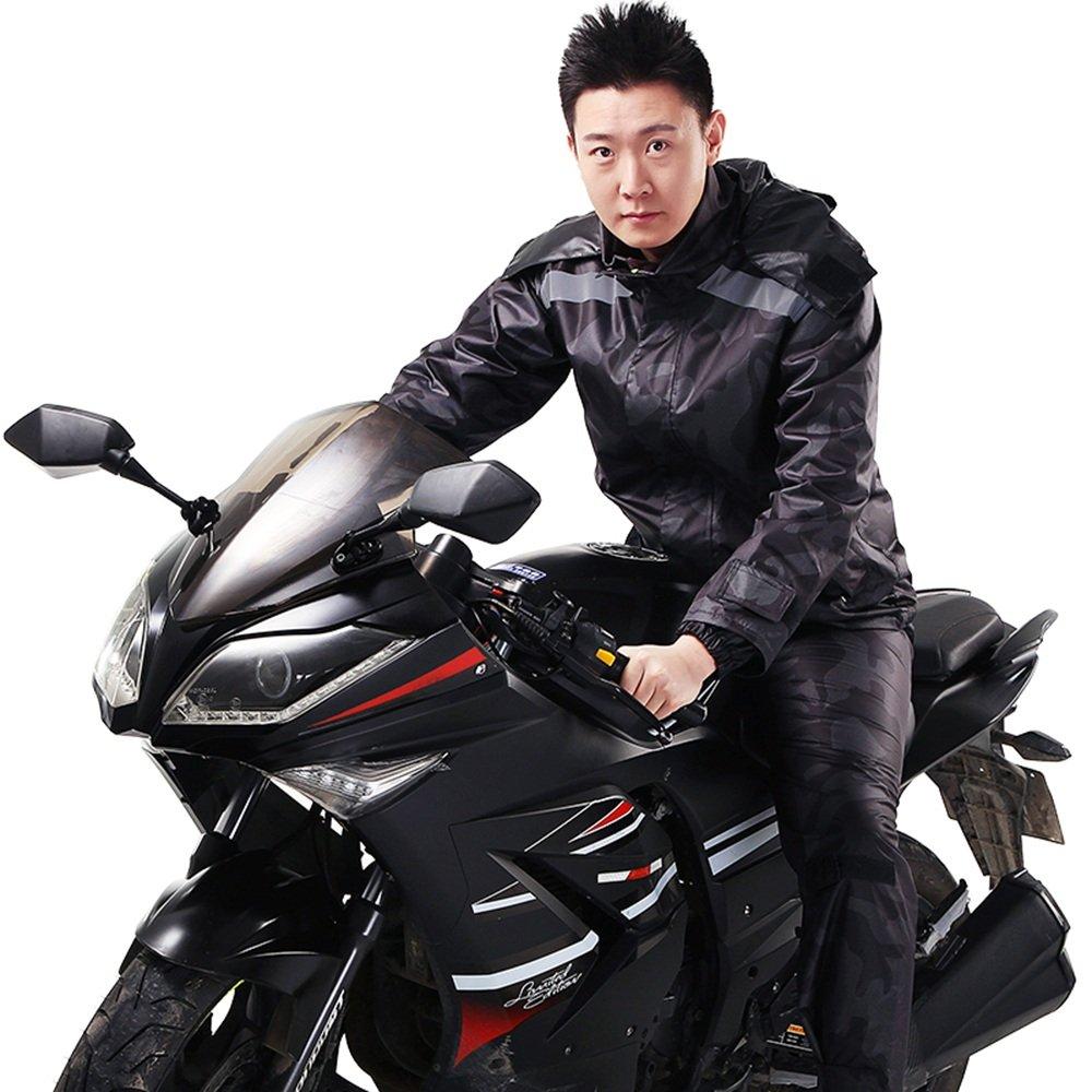 Aihifly tragbar Männer und Frauen Outdoor Riding Regenmantel wasserdicht Split Suit (Größe   XL)
