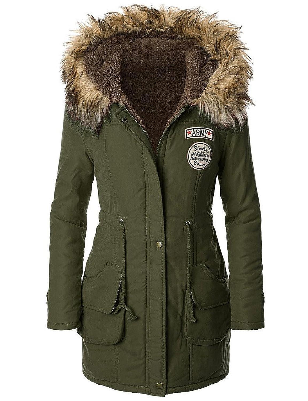 Amazon.com: iLoveSIA Womens Hooded Warm Winter Coats Faux Fur ...