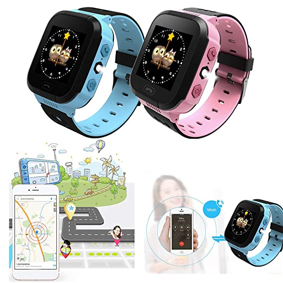 Smart Watch for Kids GPS Tracker Watch Base Station Positioning Wrist  Anti-Lost Touch Screen Android Mobile Camera Cell Phone Best Gift for  School