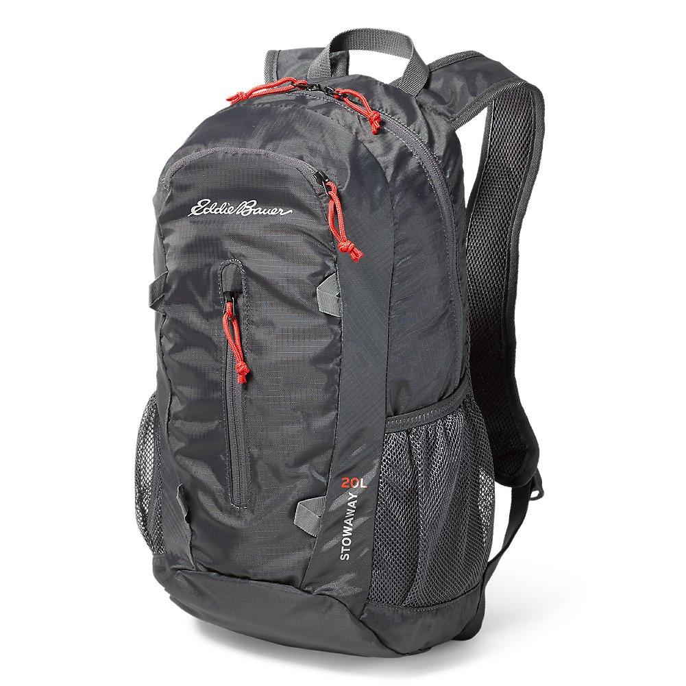 Eddie Bauer Unisex-Adult Stowaway Packable 20L Daypack, Dk Smoke Regular ONESZE