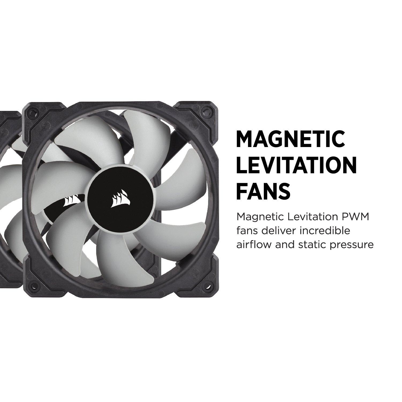 CORSAIR HYDRO Series H100i PRO RGB AIO Liquid CPU Cooler, 240mm, Dual ML120 PWM Fans, Intel 115x/2066, AMD AM4 by Corsair (Image #5)