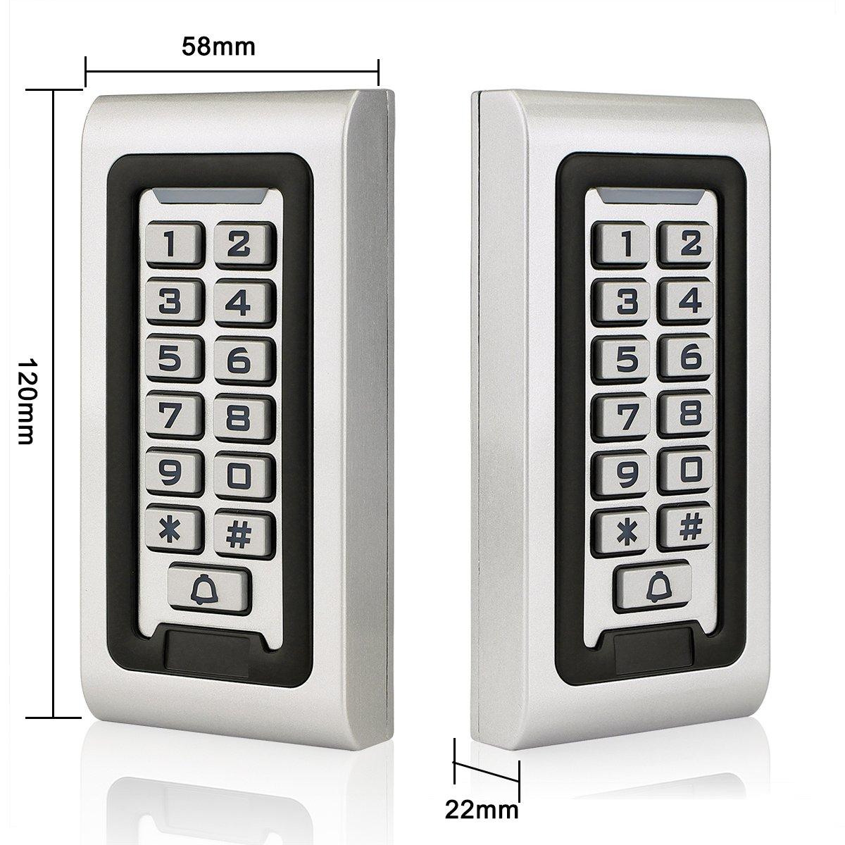 Retekess S601EM-W Codeschloss PIN-Code RFID-Karte IP68 f/ür Fabrik Silber