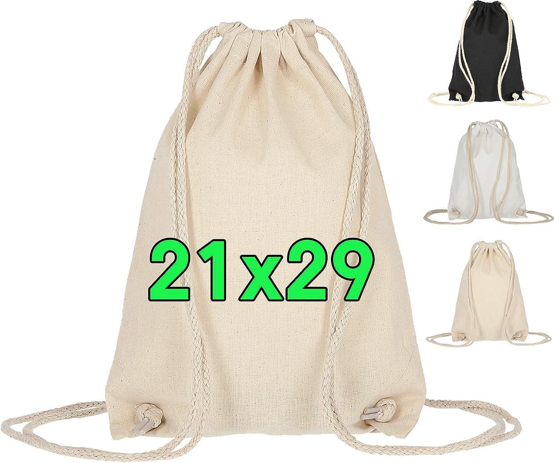ELES VIDA Bolsas de Deporte de algodón, 21x29 cm, pequeñas, para ...