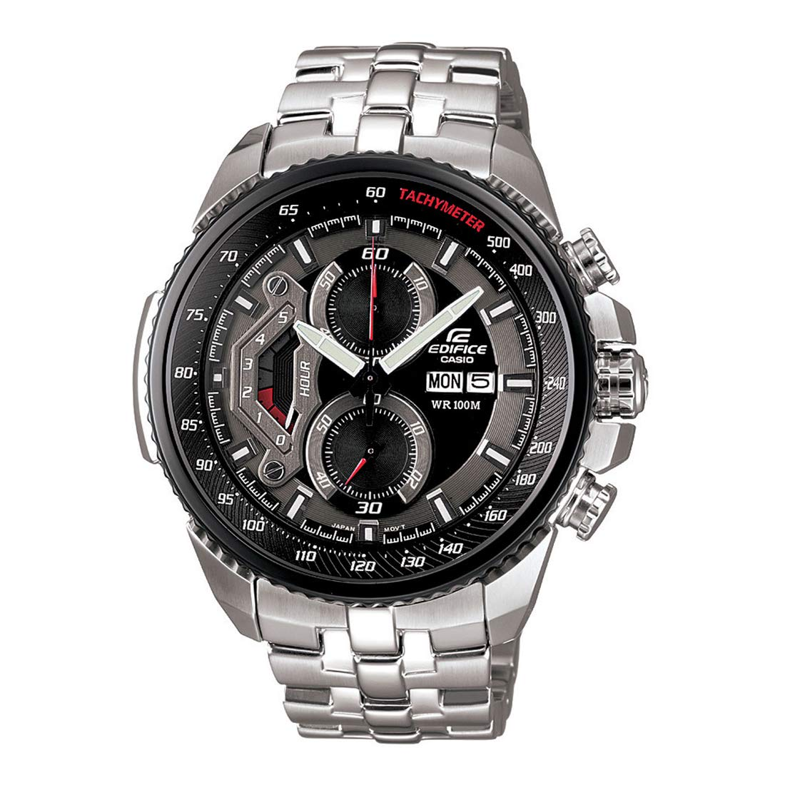 2e3fe54cac2 Buy Casio Edifice Tachymeter Chronograph Black Dial Men s Watch - EF-558D-1AVDF  (ED436) Online at Low Prices in India - Amazon.in