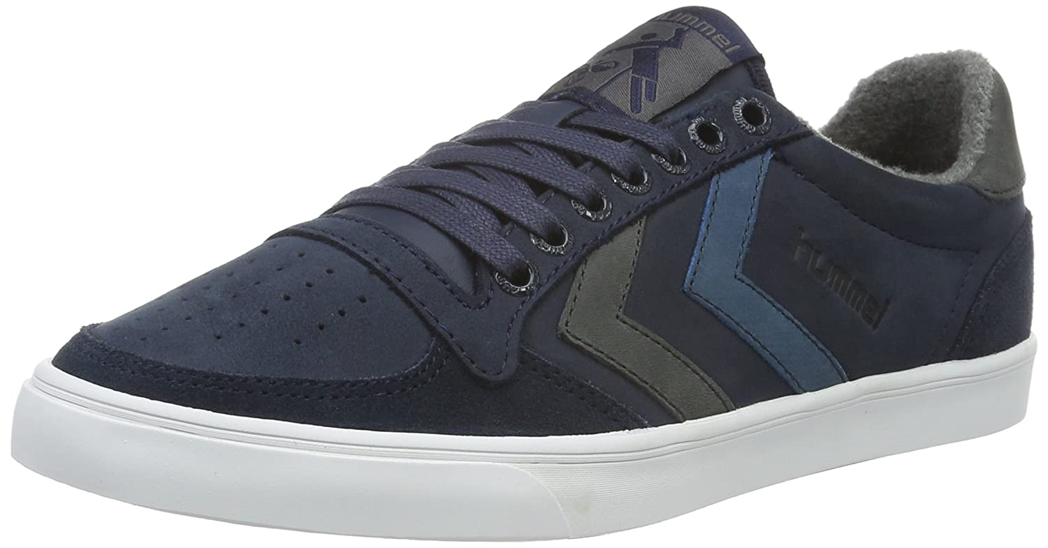 Hummel Slimmer Stadil Duo Oiled Low, Zapatillas Unisex Adulto 41 EU|Azul (Total Eclipse)
