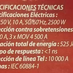 Eaton Protection Strip 6 Tel (DIN) limitador de tensión 6 salidas AC Negro - Regleta (525 J, 6 salidas AC, 10 A, Negro): Amazon.es: Informática