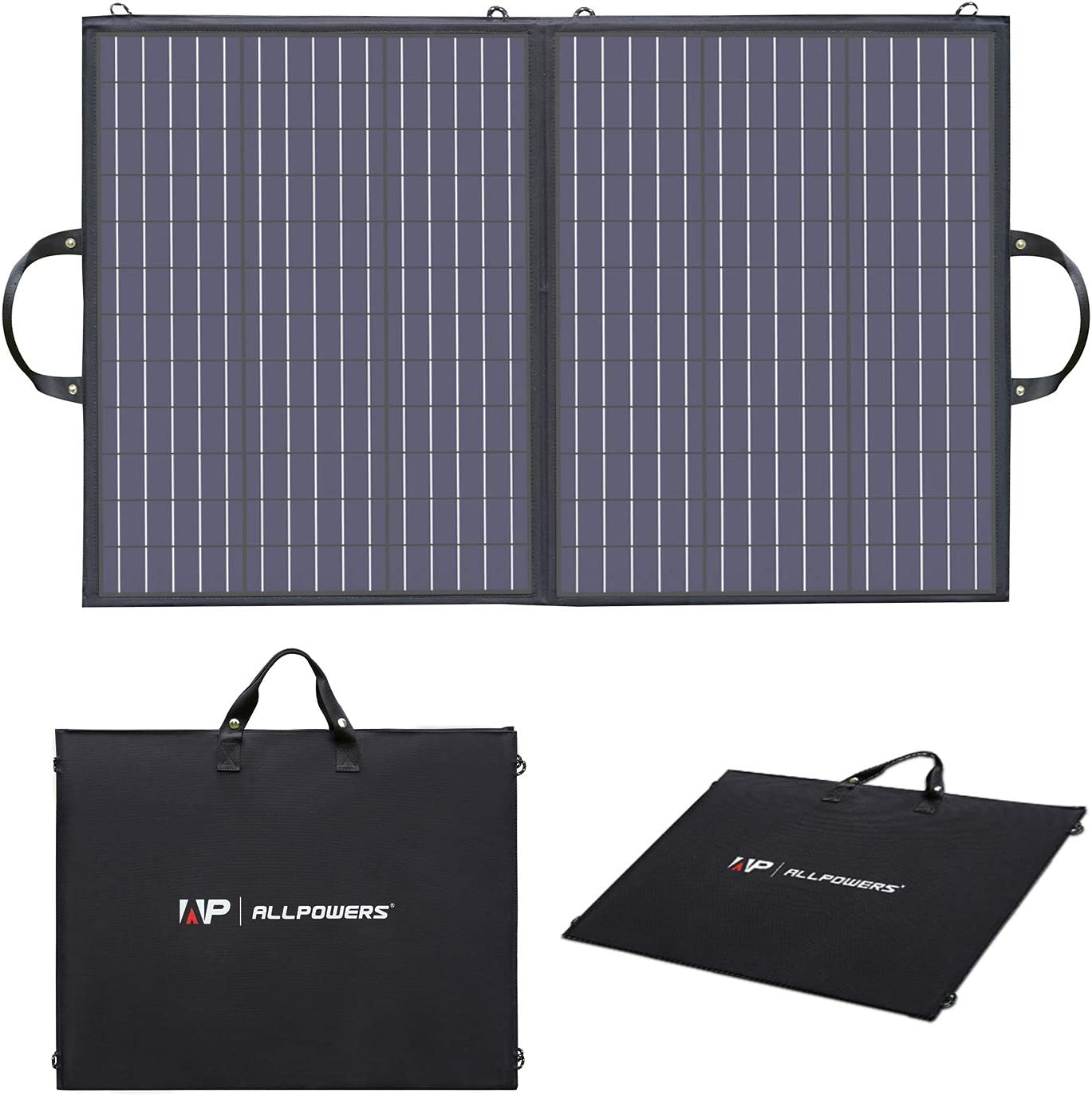 ALLPOWERS 100W Portable Solar Panel Charger for Laptops, Foldable US Solar Cell Solar Charger with MC4 Output for Most Portable Generator Power Station