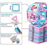 shengqing Magnetic Building Blocks Educational Toys Tiles Set for Boys & Girls Magnet Stacking Block Sets for Kid's Basic Ski