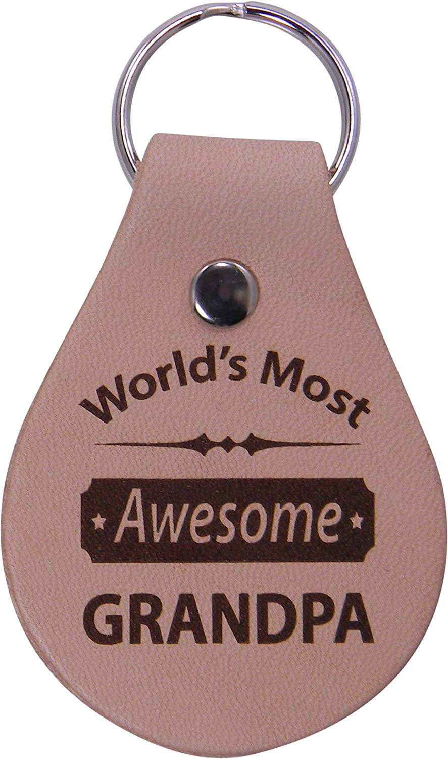 Grandfather Grandpa Birthday Worlds Best Dad Leather Key Chain or for Dad Husband CustomGiftsNow Papa Great Gift for Fathers Day