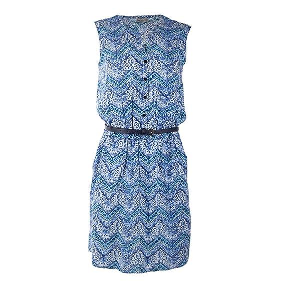 code promo 44d8c 2b290 Best Mountain Robe Bleu imprimée col V Femme M Bleu Clair ...