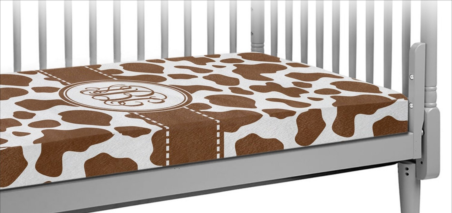 Cow Print Crib Fitted Sheet (Personalized)