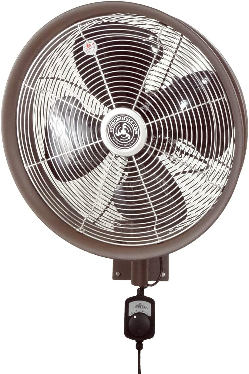 HydroMist F10-14-021 Outdoor Fan, 18 Inch, Dark Brown