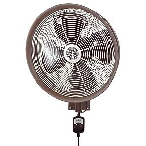 HydroMist F10-14-021 Outdoor Fan, 18 Inch, Dark Brown