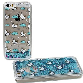 coque iphone 5 liquide avec eau 1 licorne