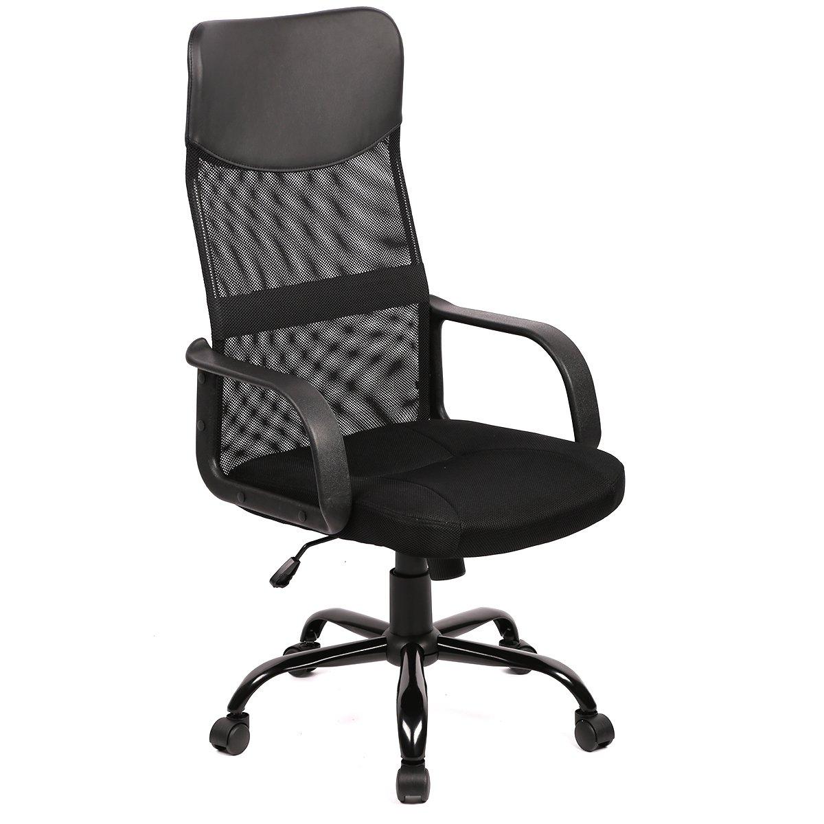 Amazoncom New Black Modern Fabric Mesh High Back Office Task