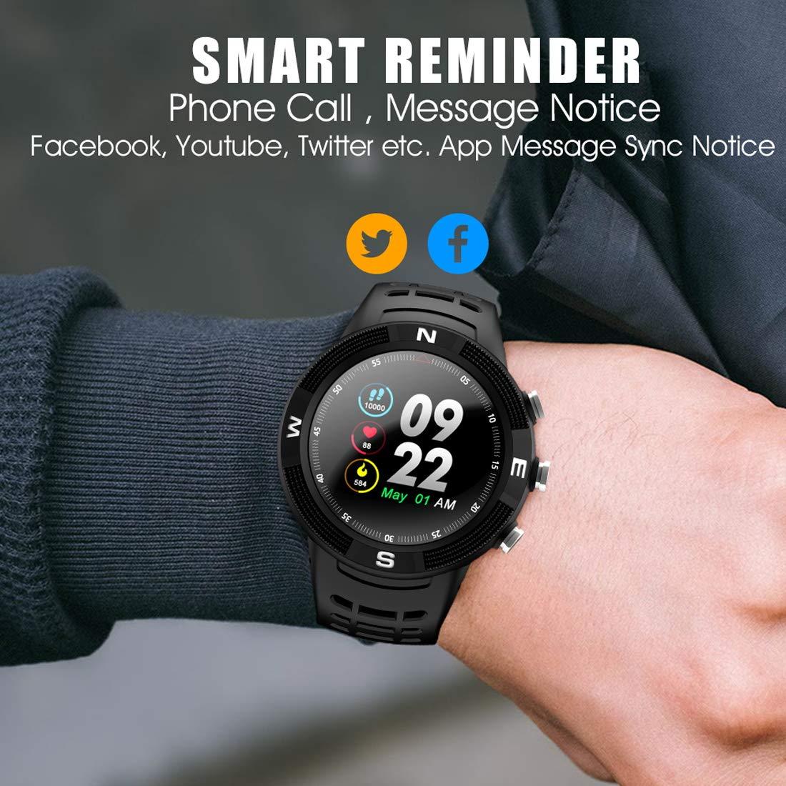 N NEWKOIN Relojes Inteligentes GPS para Deportes al Aire Libre Smartwatch IP68 Sportwatch Impermeable Rastreador de Ejercicios Monitor de Ritmo cardíaco ...