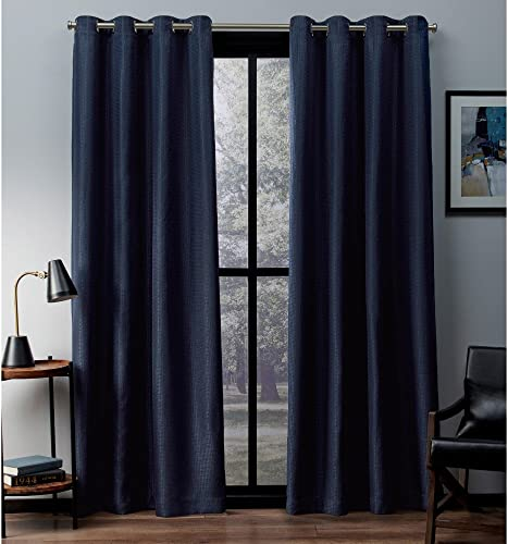 Exclusive Home Curtains Eglinton Woven Blackout Window Curtain Panel Pair