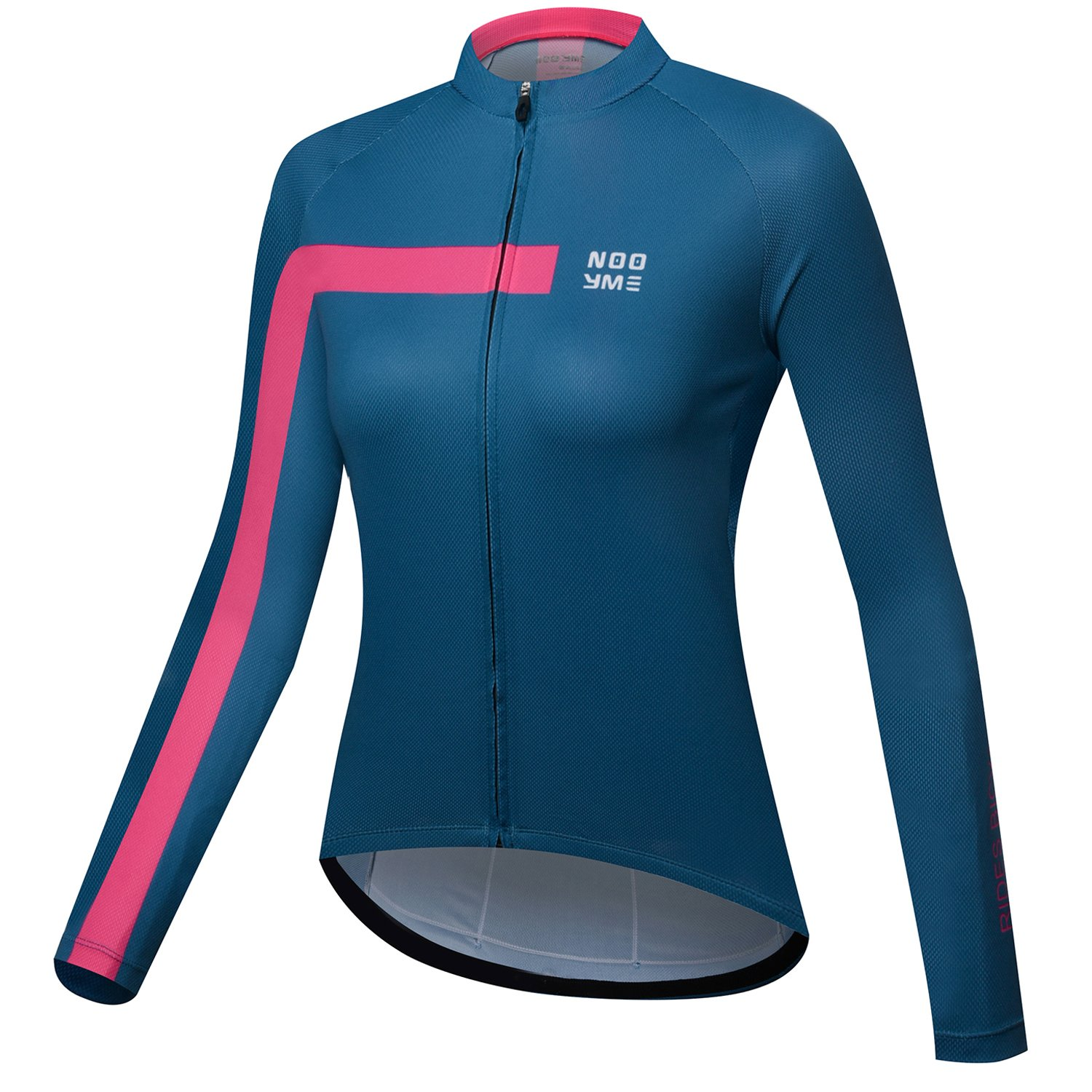 NOOYME Womens Cycling Jersey Long Sleeve Bike Jersey