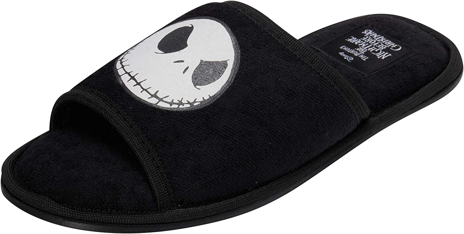 Disney Nightmare Before Christmas Jack Skellington Open Toe Adult Slipper