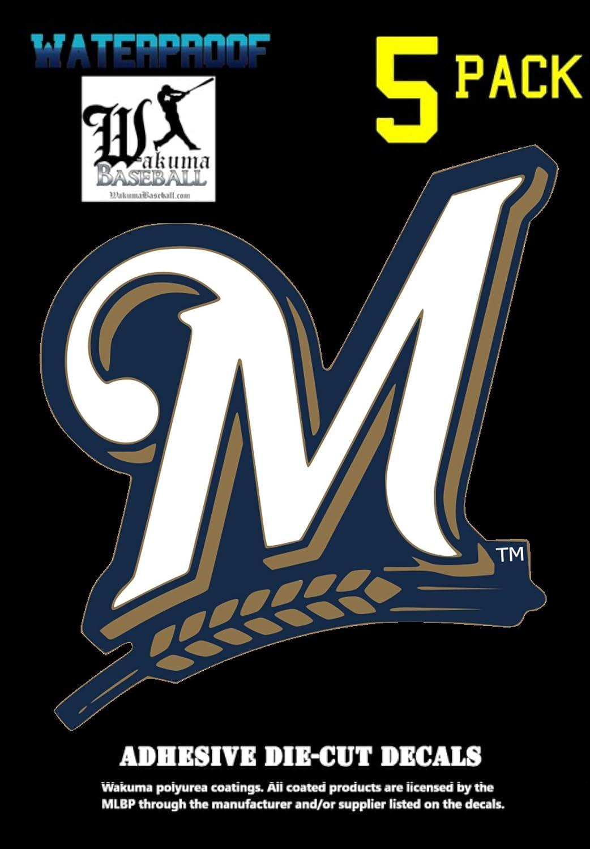 A&A Global 5 Pack Vinyl Decal Sticker Set, 3 x 3 inch Major League Baseball Emblem