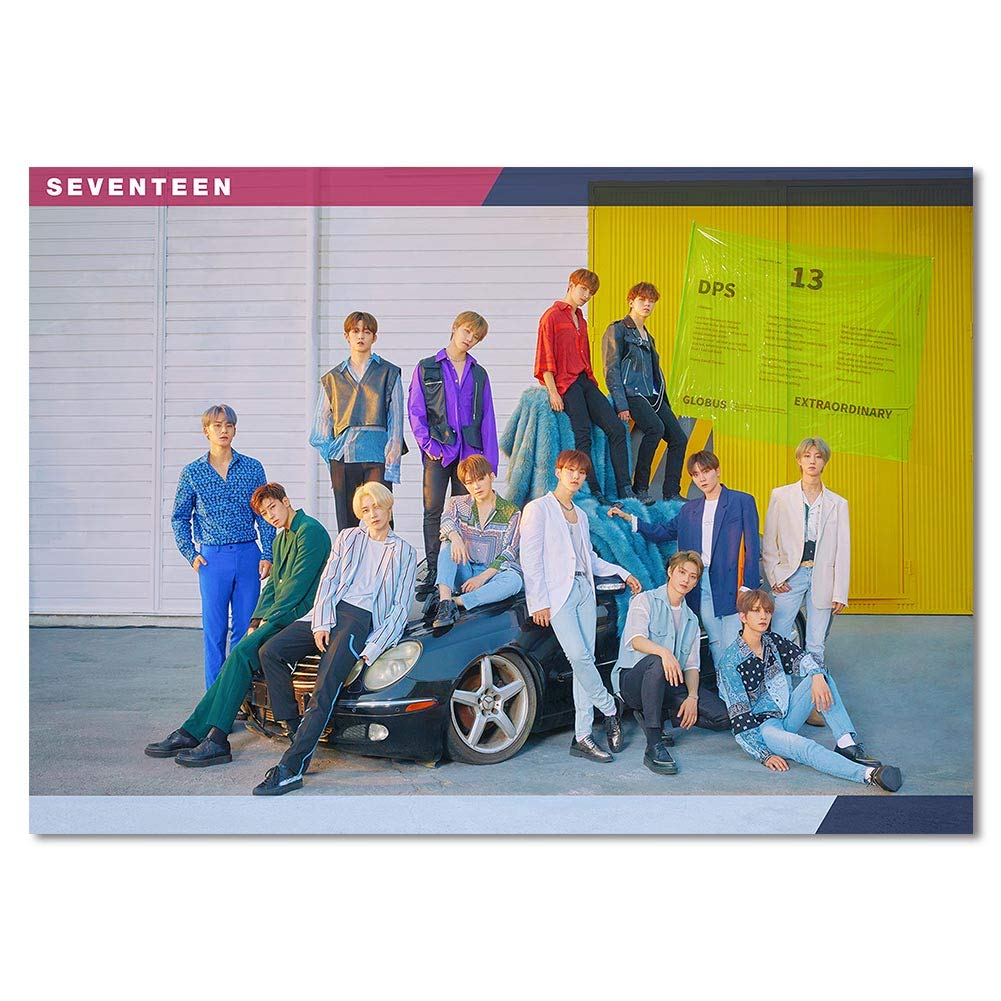 14pcs 16.5/×11.8IN GOTH Perhk Kpop Seventeen Poster New AlbumHIT Poster Official Supported Poster for Seventeen Fans Collection