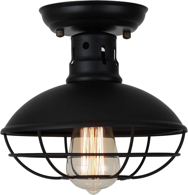 Industrial Ceiling Light Ivalue Vintage Pendant Lights Mini Semi Flush Mount Hanging Light Fixture