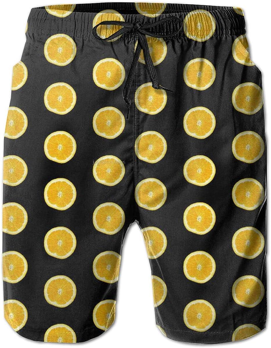 RADCRAVEN Mens Swim Trunks Orange Beach Shorts Quick Dry Mesh Lining Board Shorts Swimwear with Pockets