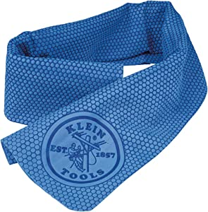 Klein Tools 60090 Cooling Towel for Neck with Evaporative PVA Technology, Blue