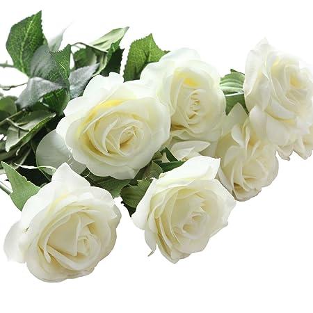 10 pcs artificial real touch silk rose flower bouquets for vase 10 pcs artificial real touch silk rose flower bouquets for vase wedding home or birthday garden mightylinksfo