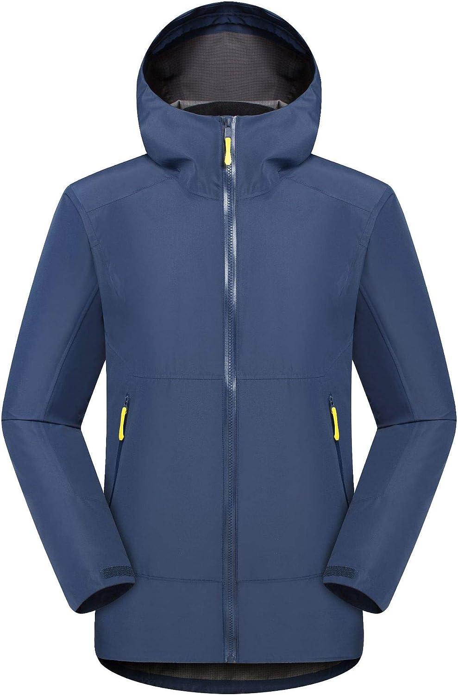 メンズ冬のジャケット、防風暖かいジャケット、通気性防水登山服  Large