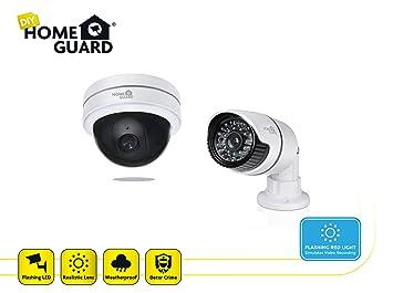 Homeguard HGDCK6058 Kit Prevención de Robo de Cámaras Ficticias Blanco Set de 2 Piezas: Amazon.es: Bricolaje y herramientas