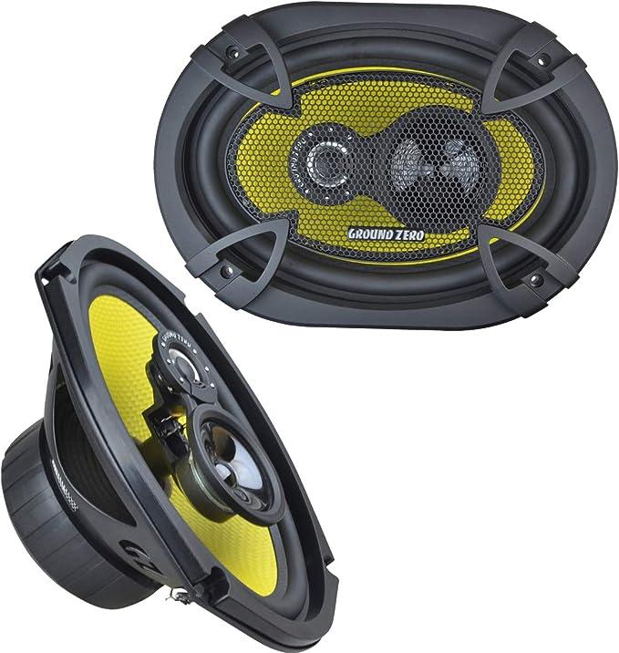 Ground Zero Gztf 69 15 X 23 Cm 6 X 9 Inches 3 Way Speakers With 190 Watt Rms 130 Watt Navigation Car Hifi
