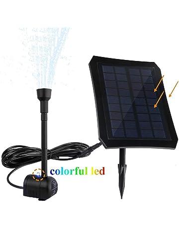 Solar LED Fuente para jardín estanque Piscina, Mini Bajo Bomba de agua con batería incorporada