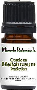Miracle Botanicals Corsican Helichrysum Essential Oil - 100% Pure Helichrysum Italicum - Therapeutic Grade - 5ml