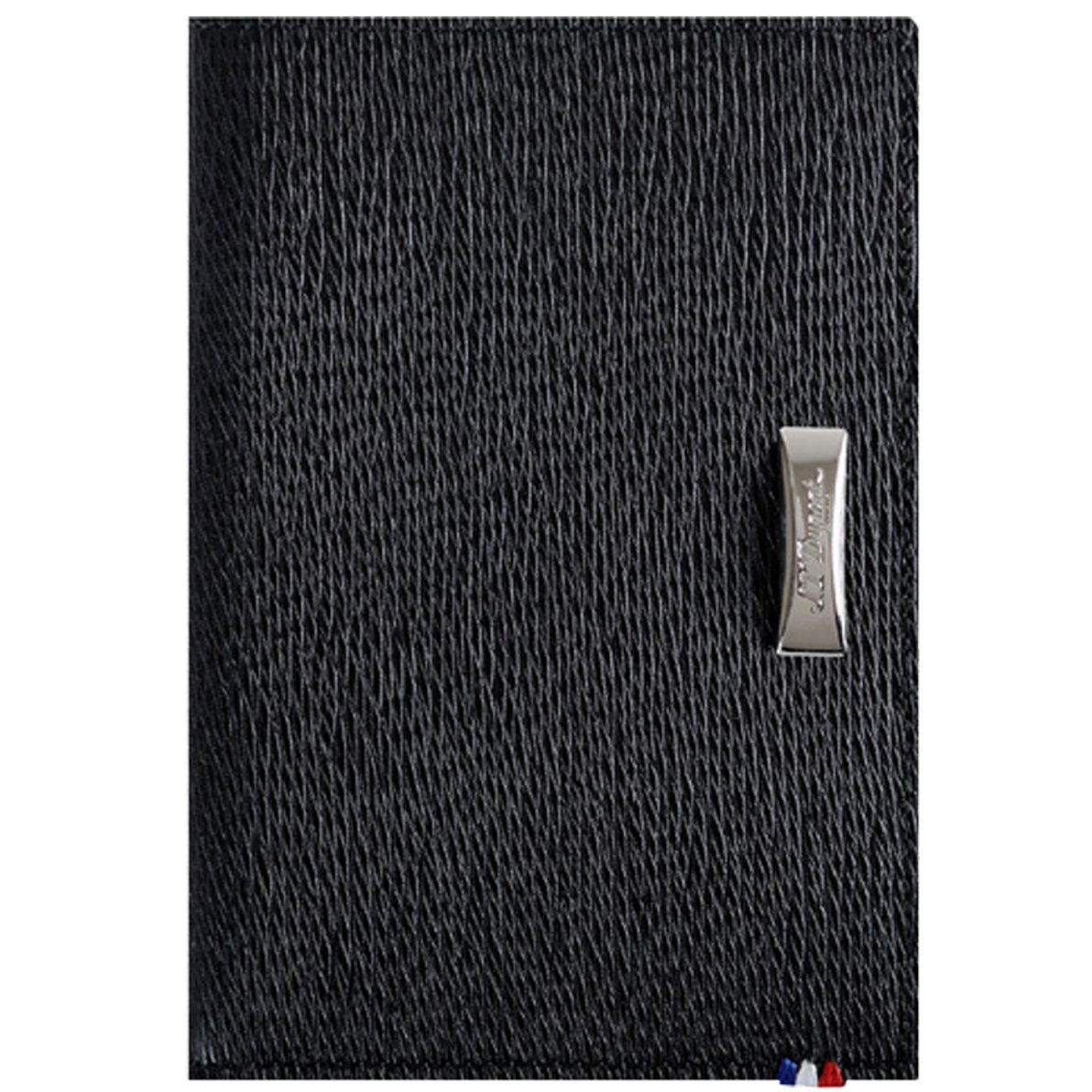 S.T. Dupont Black Contraste Leather Card Holder Wallet, 180313