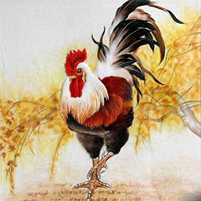 Diamond Painting Kits for Adults, Kids. Office Decoration, Home Room The Big Roosters in Search of Food 15.7x15.7in 1 Pack by Bemall: Arts, Crafts & Sewing