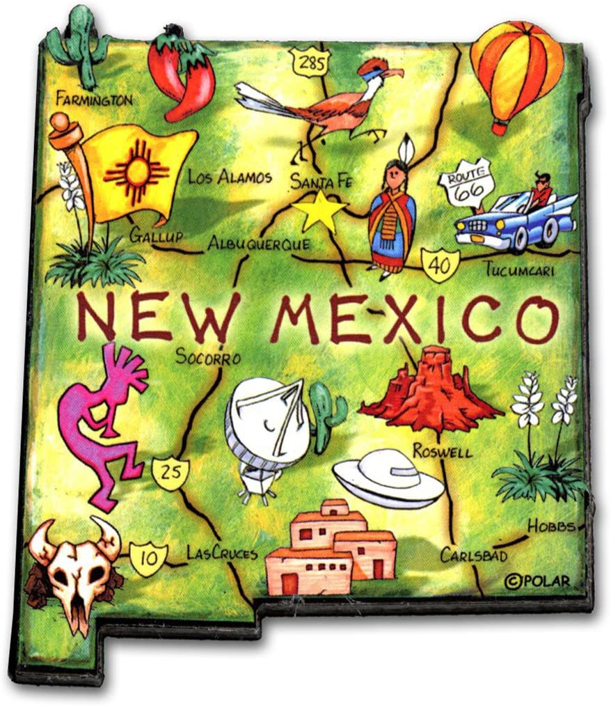 ARTWOOD MAGNET - NEW MEXICO STATE MAP