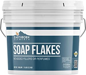 Pure Soap Flakes (1 Gallon) Ingredient to Make Liquid or Powdered Homemade Laundry Detergent for Cleaning by Earthborn Elements