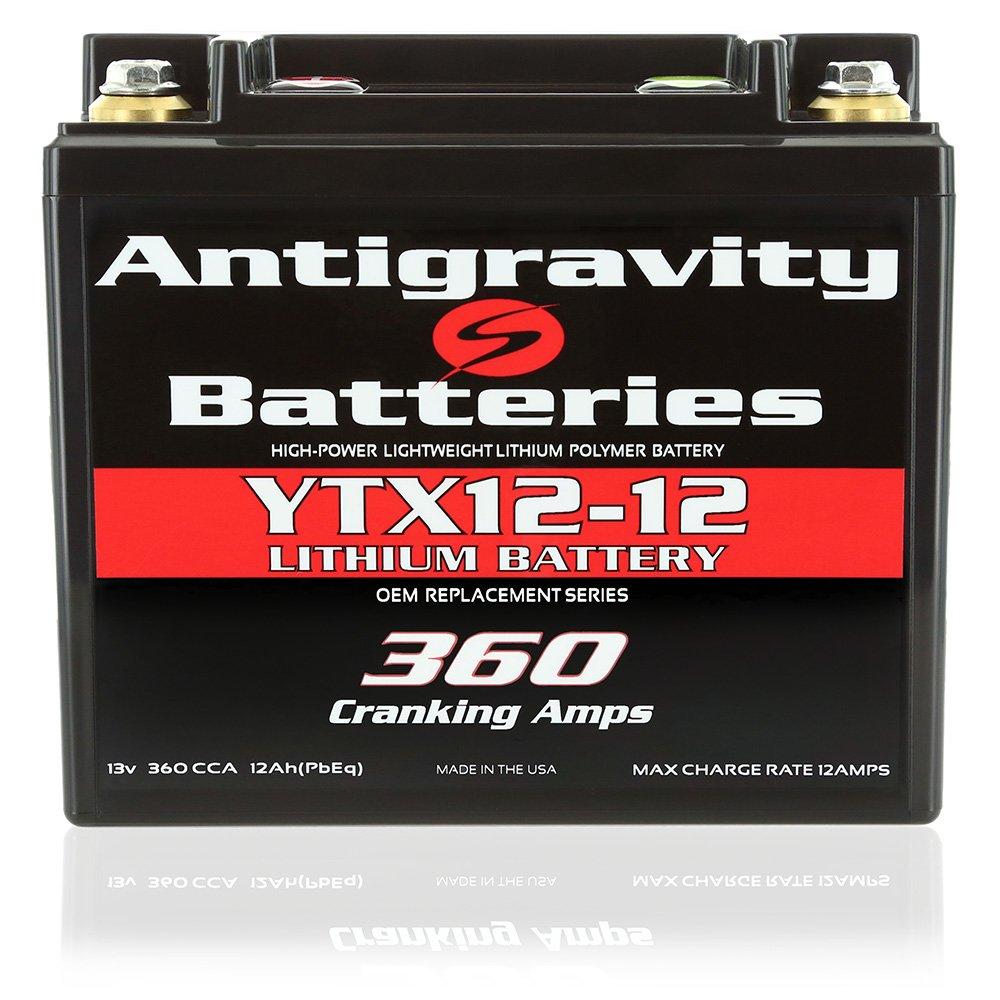 Antigravity Batteries YTX12-12 Lithium Motorsports Battery, OEM Replacement Series