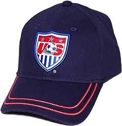 Rhinox Mens US National Soccer Team USA Baseball Cap Navy Blue