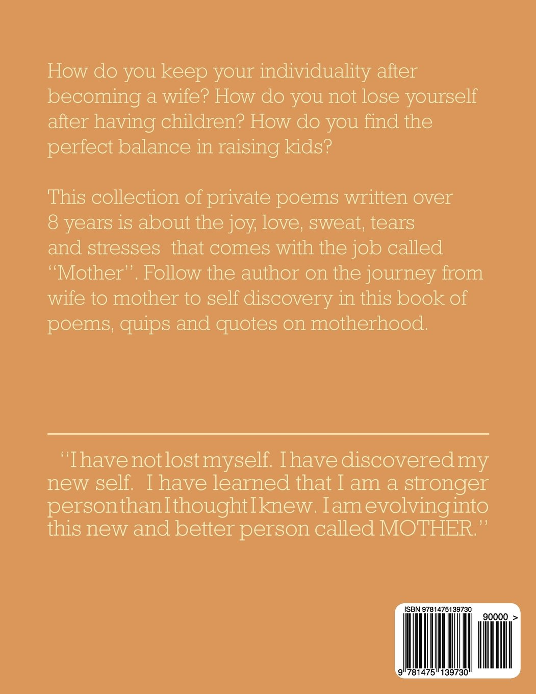 Amazoncom Mother Wife Myself Poems About Finding Yourself After