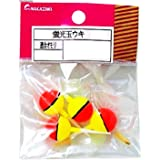 uxcell 釣りうき フローター プラスチック フィッシングウキ 15mm x 7mm  3セット