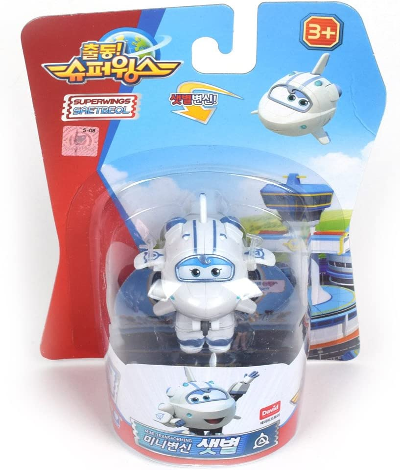 "Super Wings Season 2 New Character MINI Transforming Robot 2/"" Scale 5cm"