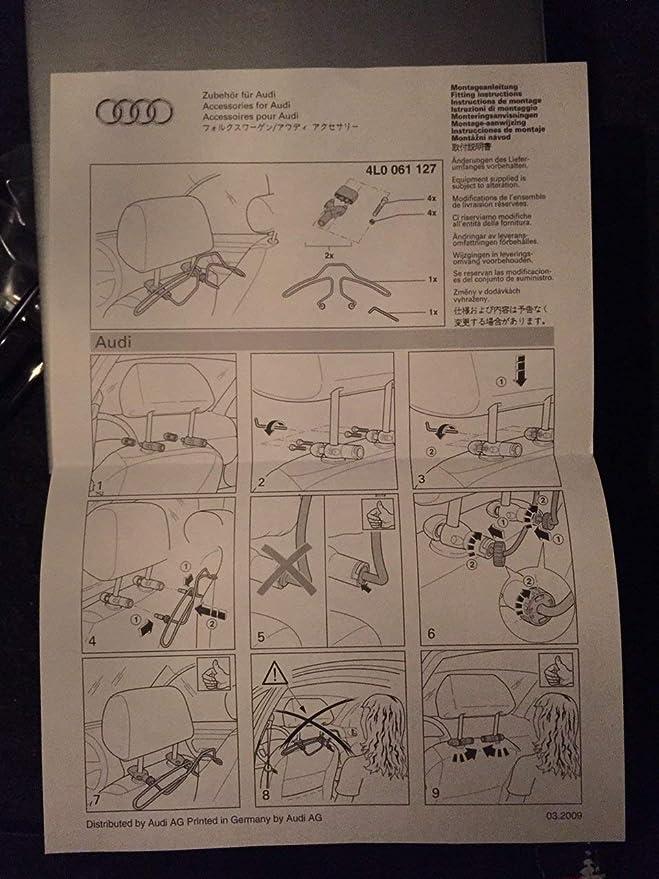 Amazon.es: Audi perchero de metal gancho de metal de tuerca ...