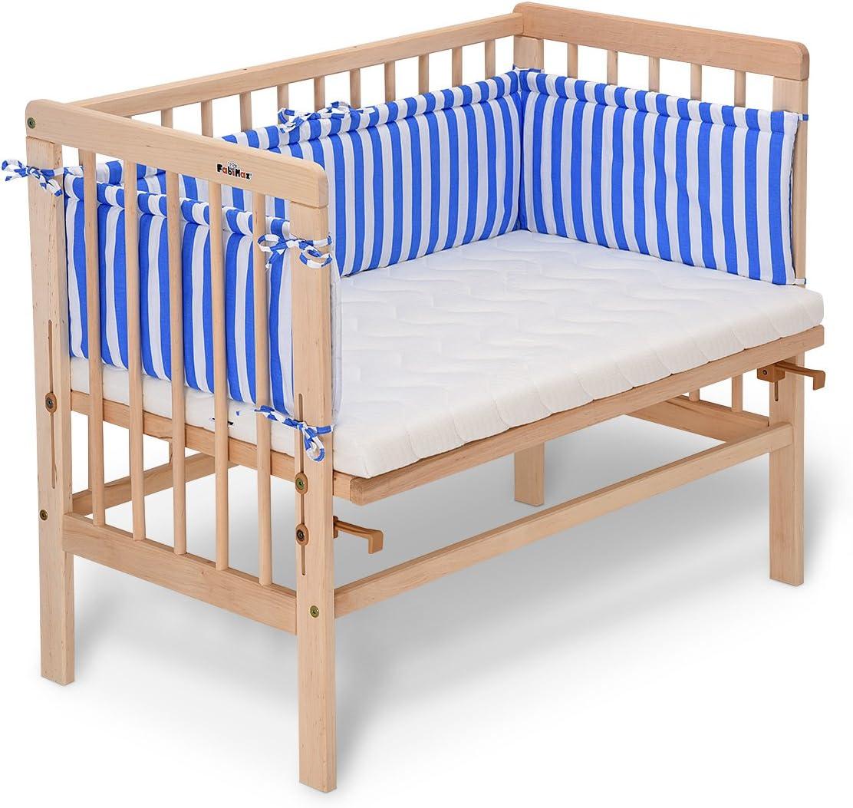 colore legno naturale FabiMax con materasso e paracolpi Lettino da affiancare al lettone Basic
